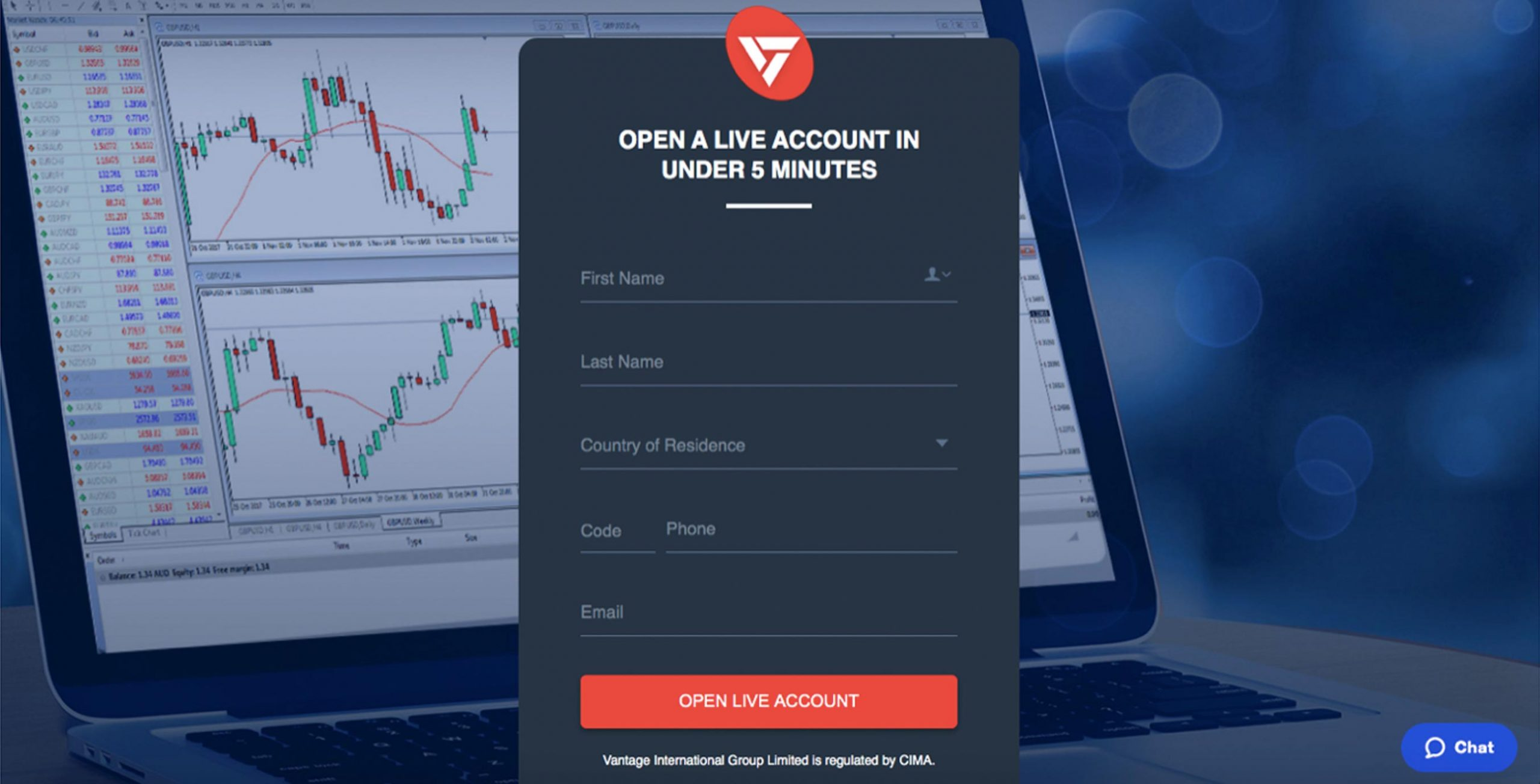 Opening a Forex Trading Account with Vantage FX